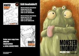 Monster_Monday_sketchbook_Volume_2_Front_and_Back_Cover